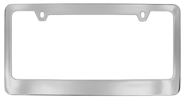 solid brass engraved metal license plate frame - Metal License Plate Frames
