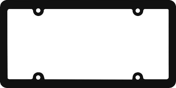 Blank Plastic License Plate Frames