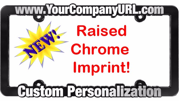 Chrome Raised Imprint License Plate Frame