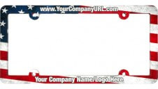 Full Color Aluminum License Plate Frame