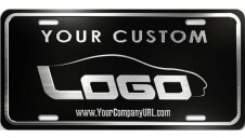 Embossed Aluminum License Plate