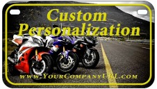 Dye Sublimated Embossed Aluminum Motorcycle Plate
